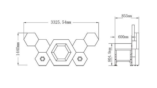 LEDビジョン/DJブース「ビー・ネスト-BEE NEST(S)|DGX社製」