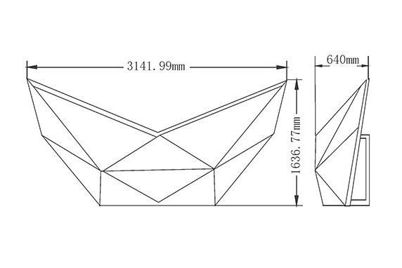 LEDビジョン/DJブース「エンジェル ウイング -Angel Wing|DGX社製」